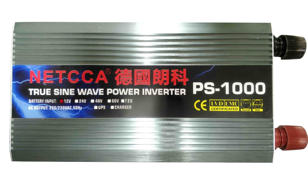 DC to AC pure sine wave solar power inverter charger system 1000W